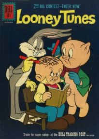Vintage Children's magazine cover poster - Looney Tunes, September
